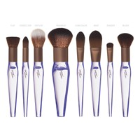 New 8pcs Synthetic Portable Travel Makeup Set High Quality Dreamlike Crystle Acrylic Makeup Brush Set Customized Manufac