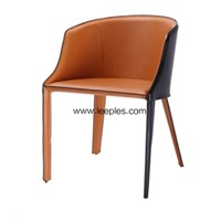 New Style Cross Back Custom Color Dining Coffee Nordic Bar Chair with Wooden Leg.