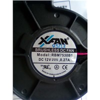 DC Blower Size 75x75x30mm, 12V, 3000RPM,