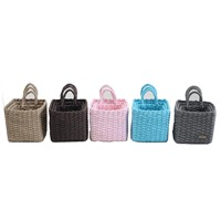 Paper Rope Storage Basket with Beautiful Color