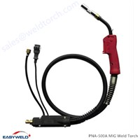 Quality Air Cooled 500Amp MIG Welding Torch Compatible with PANASONIC Product
