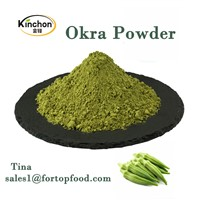 Natural Okra Powder Organic Healthy Soft Drink Beverage Pure Vegetable