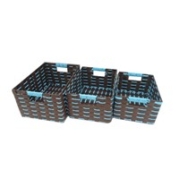 100% Handcraft Paper Storage Baskets, Rectangle Box, Storage Bin, Wicker Basket, Raw Material Basket