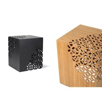 Lace Solid Bamboo Carving End Table