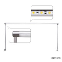 Energy Saving DC12V Silver LED Supporting Bar Light Strips for Jewelry Showcase LN7533D