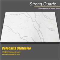 Calacatta White Quartz Stone from Foshan China