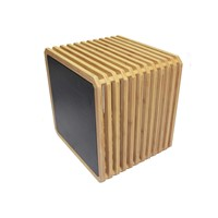 Slot Solid Bamboo Storage Unit with Bamboo Door