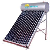 Vacuum Tube Collector, Home Solar System Stainless Steel, Non-Pressurized Solar Water Heater