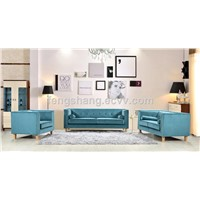 Modern Velvet Living Room Fabric Home Furniture 3 Seater Sofa Set Pillows Included