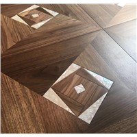 Engineered Wood Flooring with Shell Inlay