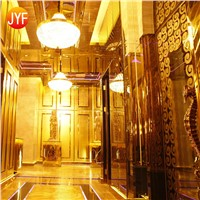 JYF003 Wall Decoration 0.4mm Gold Mirror Stainless Steel Sheet