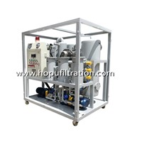 Vacuum Steam Turbine Oil Purifier, Emusified Oil Purification Plant, Turbine Oil Dehydrator with Enclosure