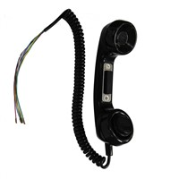 Low Price Factory ABS Payphone Handset Plastic Cheap Phone Handset for Self-Service Terminal-A15