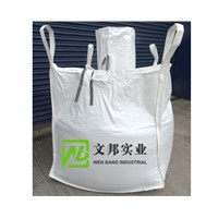 Bulk Bags with Filling Spout, Bottom Flat, Side-Seam Loops