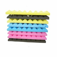 500*500*50mm Soundproofing Foam Studio Acoustic Foam Soundproof Absorption Treatment Panel Tile Wedge Polyurethane Foam