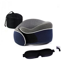 Office Nap Rest & Travel Foldable Memory Foam U Shaped Car Neck Pillow