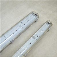 T8 Double Lamp Tube Waterproof Shell, PC Cover LED Lamp Holder, Neutral Packaging Dust-Proof, Moisture-Proof & Corrosi