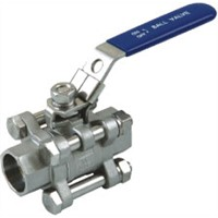3PC Stainless Steel Ball Valve 1000WOG - CF8 CF8M