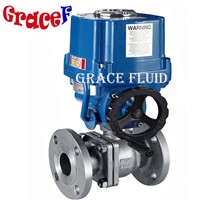 Floating Flange Ball Valve with 12v 24v 220v 380v Electric Actuator