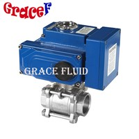 24v 110v 220v Motorized Ball Valve Stainless Steel Npt Thread