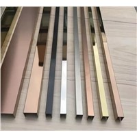 Home Decor, Interior Decorative Product, Stainless Steel Profile/Metal Trim/ Aluminum Profile 201/304 Stainless Steel