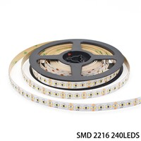 24V Ultra Thin Constant Voltage High CRI 95 240leds/m SMD 2216 LED Strip Light