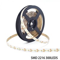 24V Ultra Thin Constant Voltage High CRI 95 300leds/m SMD 2216 LED Strip Light