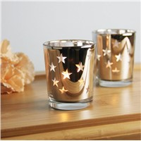 Star Mercury Glass Candle Holder/Jar/Cup Tealight Holder for Wedding Gift
