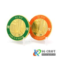 HIGH QUALITY CUSTOM 3D ENAMEL GOLD COMMEMORATIVE CHALLENGE COINS
