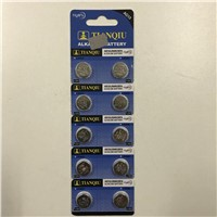 Tianqiu LR44 Button Cell AG13 Alkaline Watch Battery Factory