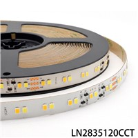 15M Constant Current Tunable White LED Strip Light SMD2835 120pcs/m