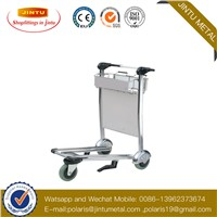 3 Wheels Loading 250kg Aluminum Alloy Airport Trolley