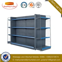 Single Side Heavy Duty Shelf Black Color Storage Display Rack