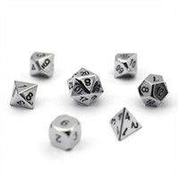 We Custom Metal D4, D6, D8, D10, D12, D20 & More, Black & White Or Other Color Dice