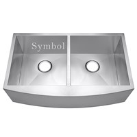 33 Inch Double Bowl Stainless Steel Farmhouse Sink