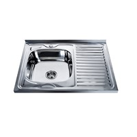 Kazakh Hot Sale Electric Plating Square Single Bowl Stainless Steel Sink