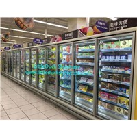Supermarket Multi-Deck Upright Glass-Door Freezer