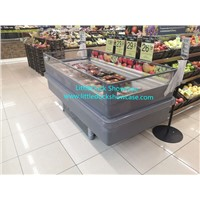 Supermarket Plug-in Freezer Refrigerator for Meat Seafood Ice Cream