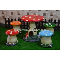 Mushroom Garden Table Set for Outdoor