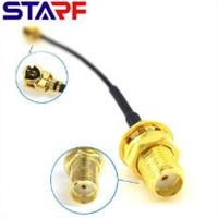 Wireless Module Transfer Cable SMA Female Bulkhead Connector To IPEX with RG1.13mm 1.37mm Cable