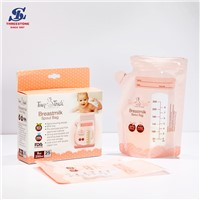 OEM Breast Milk Storage Bags with Double Zipper