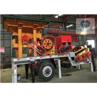 Mobile Diesel Engine Jaw Crusher with Screen