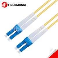 1m LC/Upc-LC/Upc Duplex 9/125 OS2 Single Mode Ofnr Fiber Optic Patch Cable 3.0mm Yellow