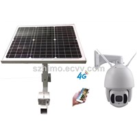 New 4G 30w Solar Powered Speed Dome Camera with Night Vision Support SIM Card 5years Warranty