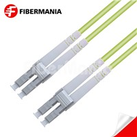1m LC/Upc-LC/Upc Duplex 100g Om5 50/125 Multimode Ofnr Fiber Optic Patch Cable 3.0mm Lime