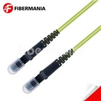 1m MTRJ/PC-MTRJ/PC Duplex 100g Om5 50/125 Multimode Ofnr Fiber Optic Patch Cable 3.0mm Lime