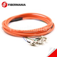 FC/Upc 6 Cores Bundle Fan Out Fiber Optic Pigtail, Multimode 62.5/125um, Orange Jacket, 3m