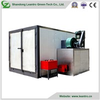 Powder Coating Oven with Diesel Heater with Floor Rail