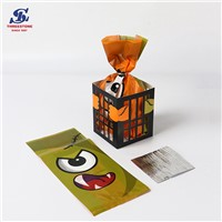 Eco Friendly Resealable Clear Plastic Halloween Cello Print Bag for Candy Food Packaging