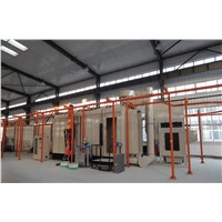 Powder Coating Line with Powder Coating Booth/Curing Oven